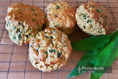 Wild Garlic and Cheese Scones