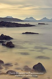 Image - View from Stoer Peninsular to the mountains of Assynt, Sutherland, Highland, Scotland.   LtoR, Cul Beag, Cul Mor, Sta...