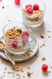 Coconut yoghurt with homemade muesli