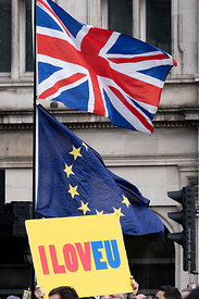 #124545,  Anti-Brexit march to Parliament Square, London, 23rd March 2019.  A million people of all ages marched demanding a ...