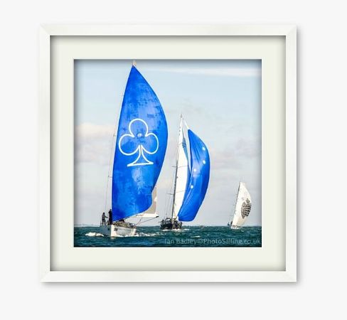 Blue spinnakers
