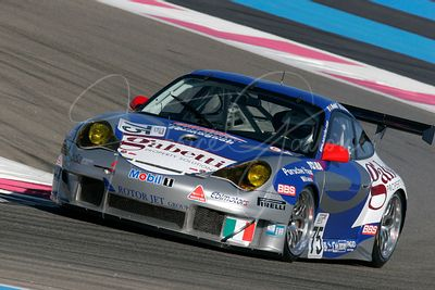Emmanuel Collard (FR) et Luca Riccitelli (IT), Porsche 996 GT3 RSR. Team Ebimotors. Action.