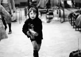 #74668,  A very young Dexter Fletcher at Anna Scher Children's Theatre, Bentham Court Hall, Islington, North London 1972.  He...