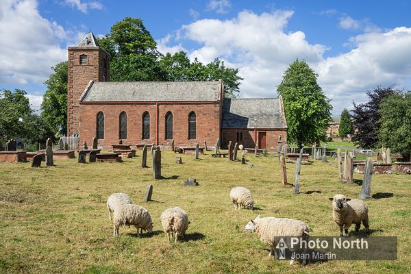 TEMPLE SOWERBY 01A - Grass cutting at St James's Church