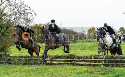 Ben Hobday jumping on the Halifax Estate. The Middleton Hunt at Bugthorpe 9/11