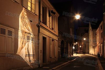 Street in Chartres during Chartres en lumières