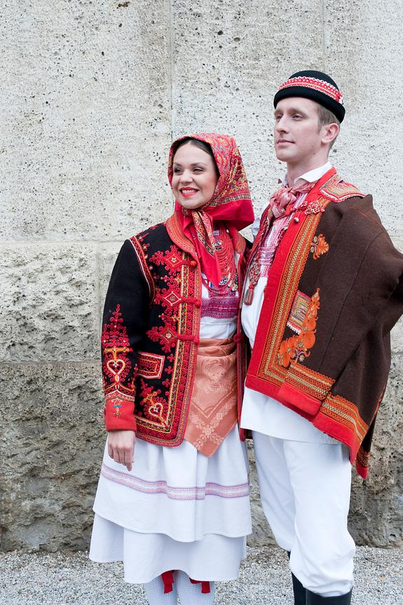 Croatian folk costumes, Zagreb, Croatia