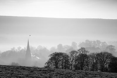 Perfect timing. December morning at Edensor
