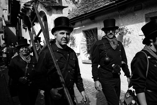SANTA MARIA MAGGIORE, ITALY - SEPTEMBER 7, 2014: The international annual meeting and parade of the chimney sweeps.
