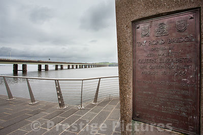 The Tay Road Bridge opening commemorative plaque in Dundee