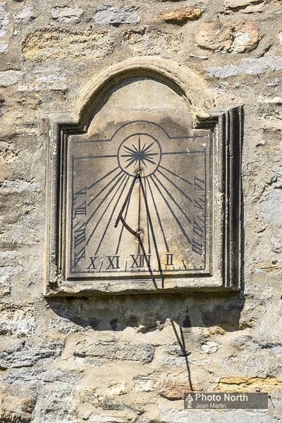 MIDDLEHAM 18A - Sundial on Church of St Mary and St  Akelda