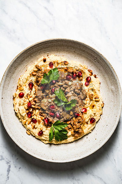 Hummus and Lamb
