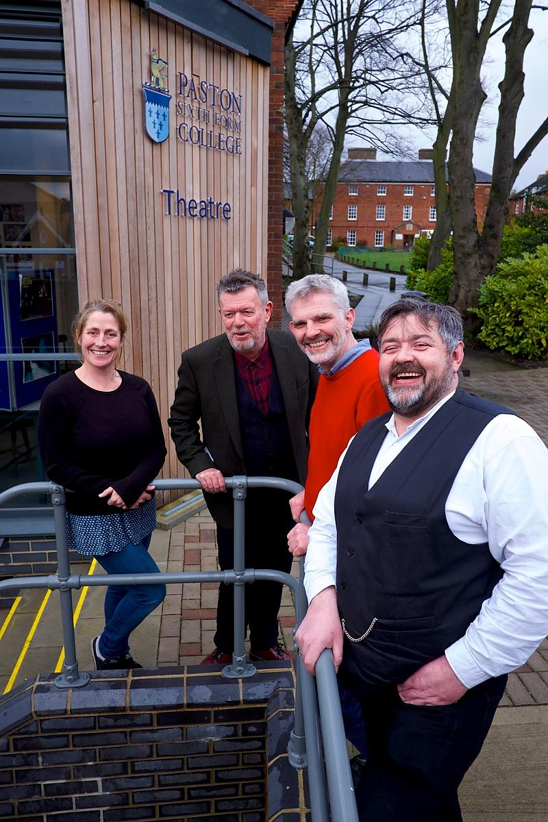 Three members of amateur dramatics group The Common Lot who will be performing in the RSC's A Midsummer Night's Dream at Norw...