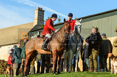 Ashley Bealby, Chris Edwards at the meet. The Pytchley Hounds visit the Cottesmore at Town Park Farm 15/1