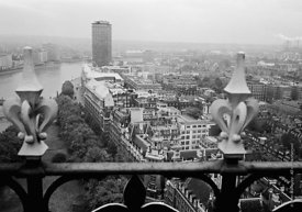 #124539,  View of Millbank Tower from the Victoria Tower at the Houses of Parliament, 1973.