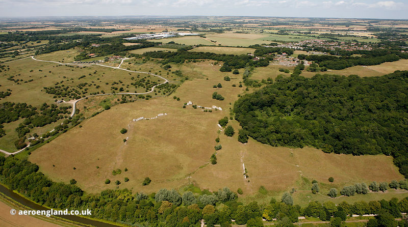 Portus Lemanis - Lympne Roman Fort and  Port aerial photograph