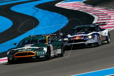 Fabio Babini (IT) et Fabrizio Gollin (IT), Aston Martin DBR9. Aston Martin Racing BMS. Action.