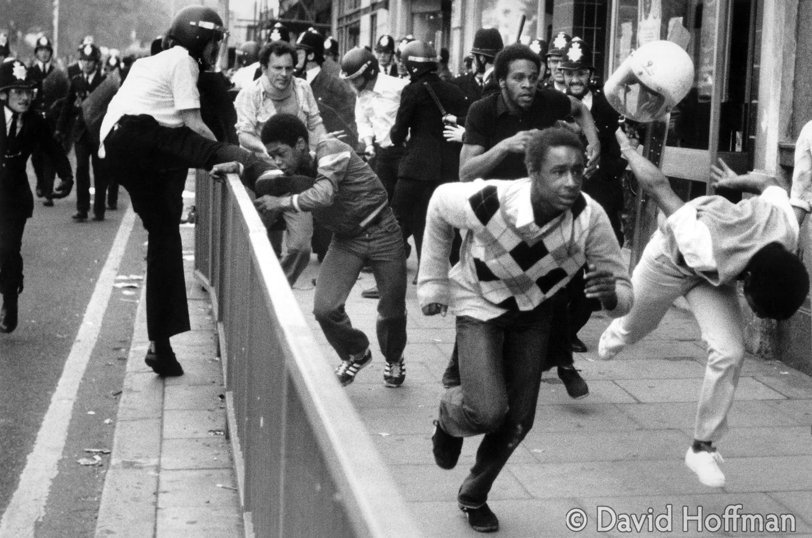 Railton Road, Brixton - the Frontline. Rioting overwhelmed police aftera man was stabbed during the deliberately oppressive S...