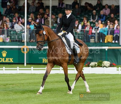 Ginny Howe and UNDALGO DE WINDSOR - Dressage - Land Rover Burghley Horse Trials 2019