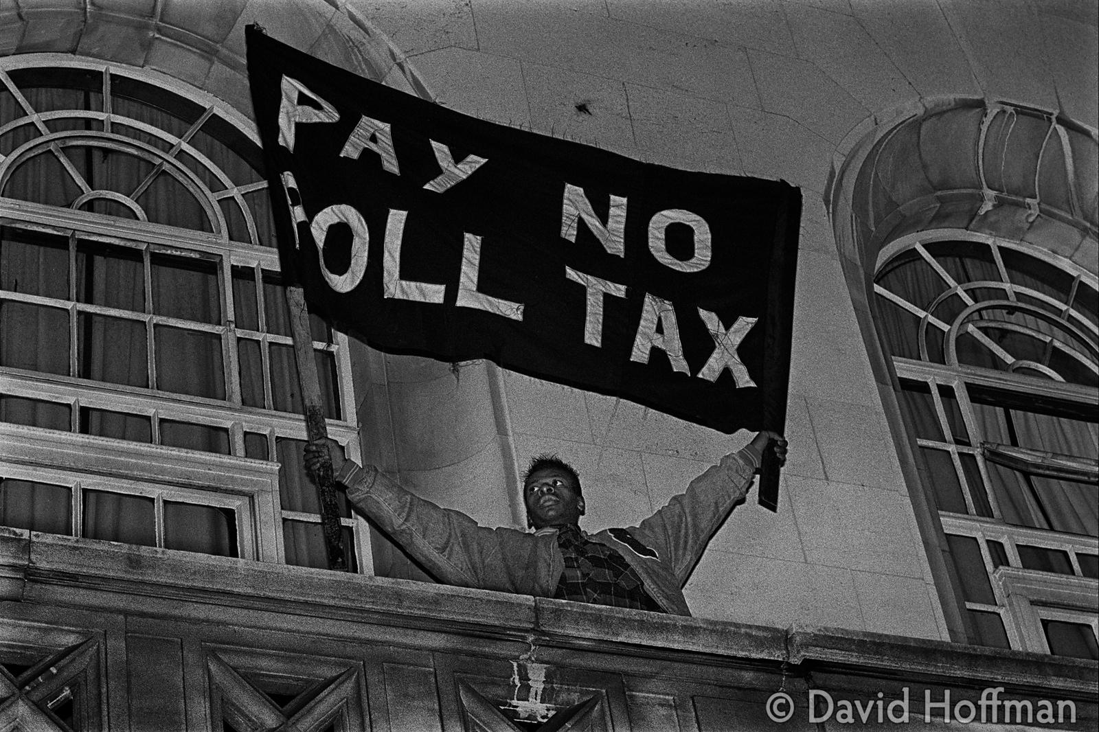 Poll Tax protests Hackney, London 1990