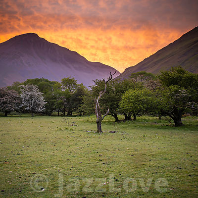 Sunrise in Lake District,UK.