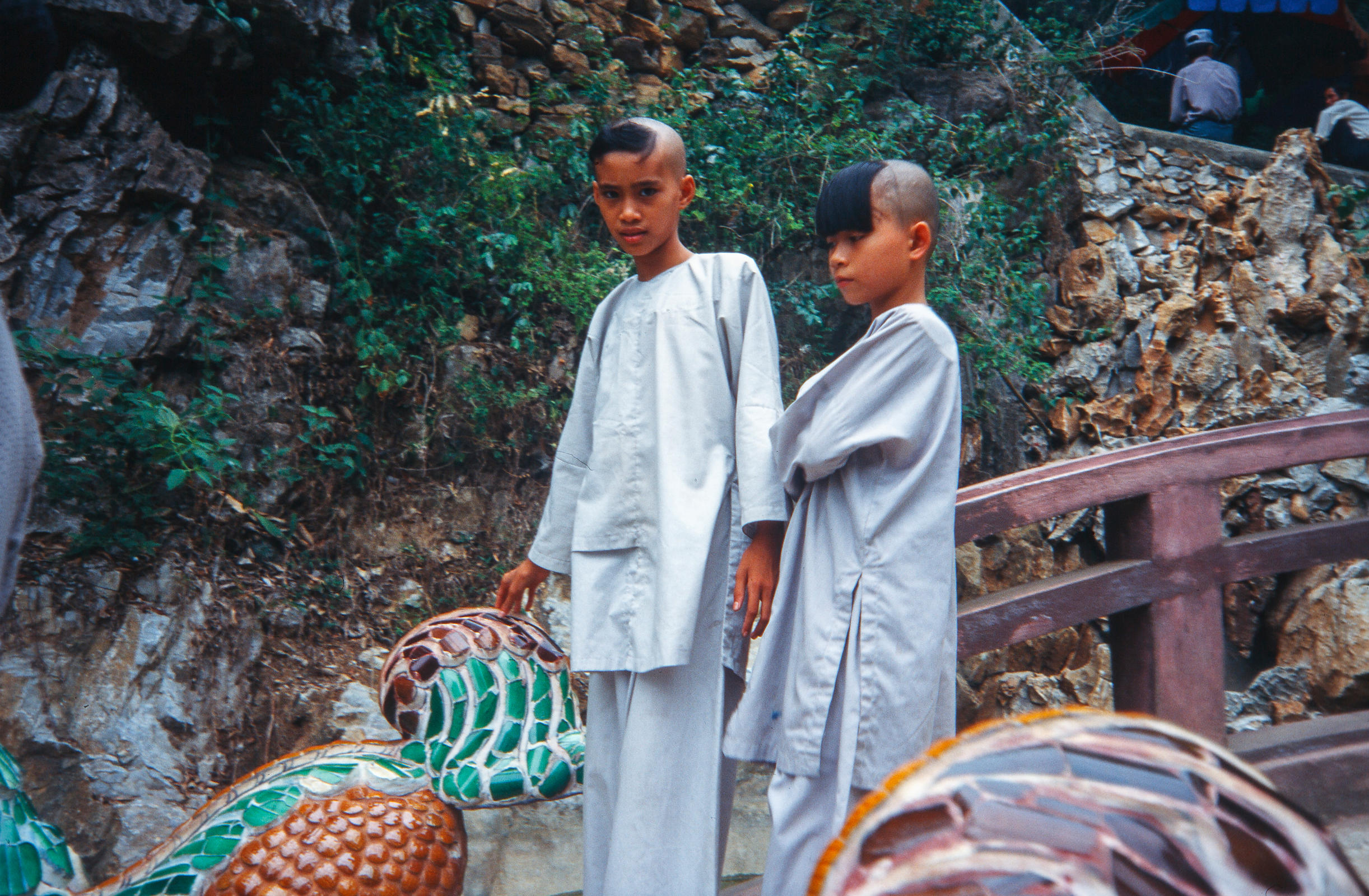 Young monks. Marble Mountains. Vietnam.