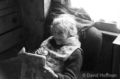A35-1 Old woman in dilapidated housing York