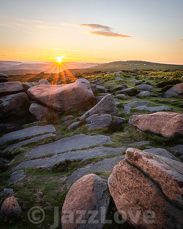 Sunset scene in Peak District,UK.