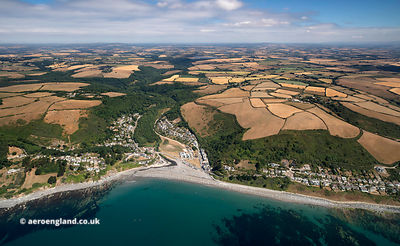 Seaton, Cornwall from the air
