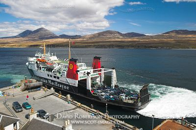 Image - Caledonian MacBrayne ferry, Port Askaig, Islay. Paps of Jura in view