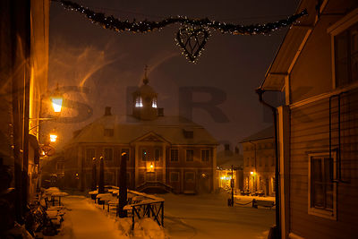 January Night in the Old Town of Porvoo