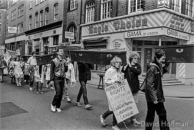 YB14-2A Demonstration against the fur trade and for animal rights,   London February 1983.