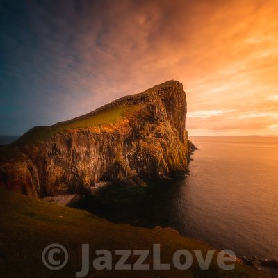 Neist point at sunset.