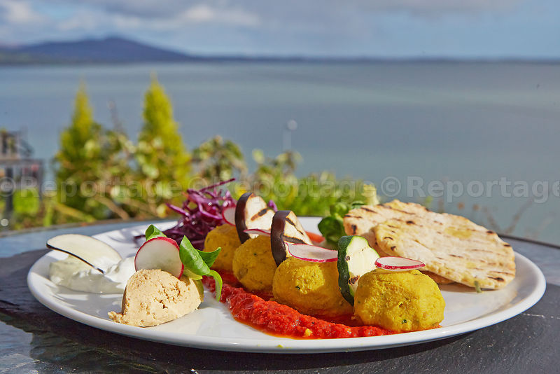 Wildwood_Cafe_Healthy_Fafafel_Mezze_on_the_balcony_overlooking_Strangford_Lough