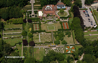 Port Lympne mansion houseaerial photograph