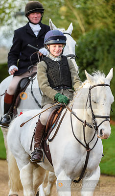Evie Wise at the meet. The Cottesmore Hunt at Pickwell 31/12