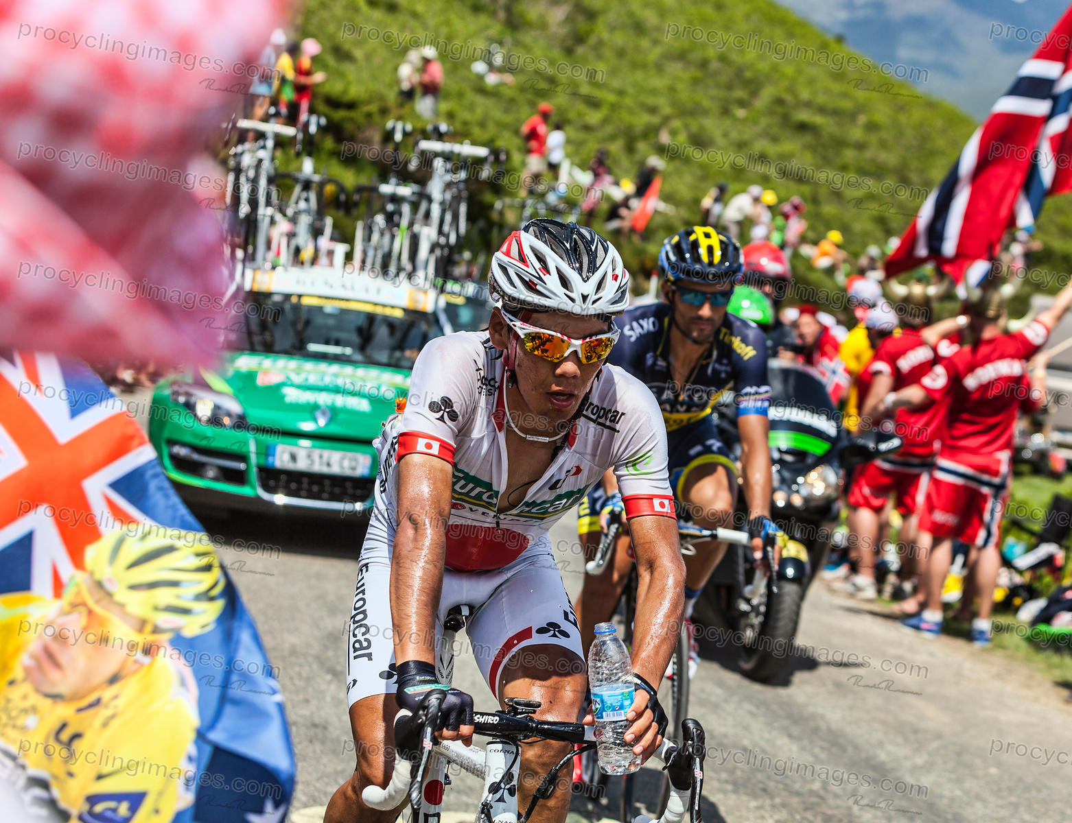 The Cyclist Yukiya Arashiro - Tour de France 2013