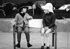 #74666,  Anna Scher Children's Theatre, Bentham Court Hall, Islington, North London 1972.  Kids would come after school and b...
