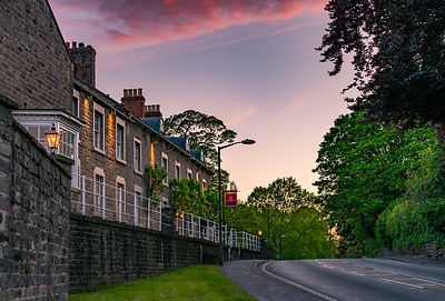 Red sky over the Cavendish Hotel, Baslow | Peak District Photography