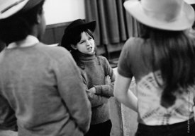 #74681,  Anna Scher Children's Theatre, Bentham Court Hall, Islington, North London 1972.  Kids would come after school and b...