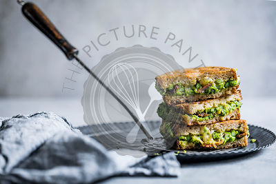 Pancetta and spring green grilled cheese toastie