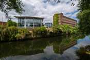 Norwich, Norfolk. ..St James Mill on the bank of the River Wensum in Norwich, Norfolk, England, UK...Picture: Mark Bullimore ...