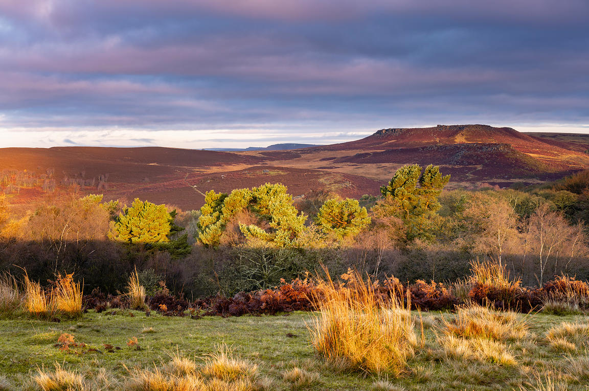 Higger Tor late autumn sunrise