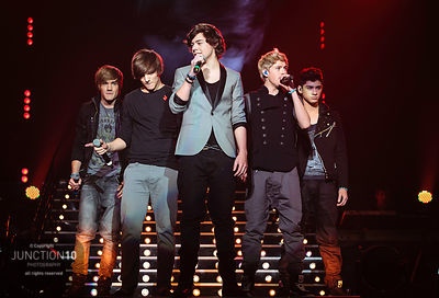 One Direction in concert at the LG Arena, Birmingham, UK