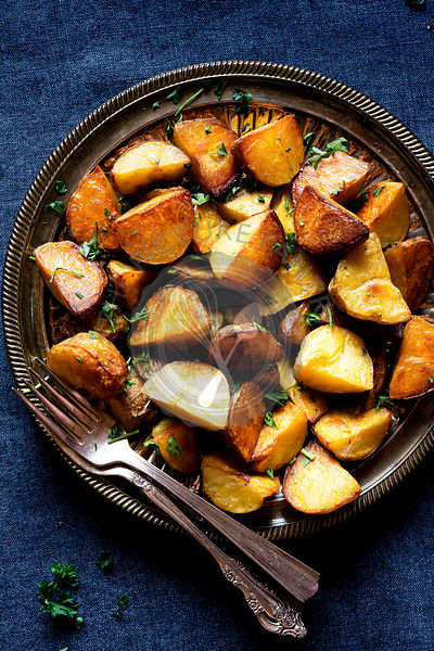 Roasted Potatoes with Parsley and Salt.