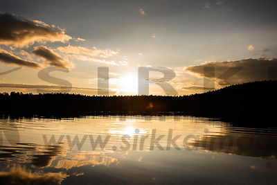 Sunset and Lake Inarijärvi