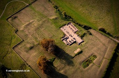 Bordesley Abbey Worcestershire aerial photograph