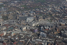 Liverpool area surrounding Liverpool Central Station and Copperas Hill developments and Lime street railway station