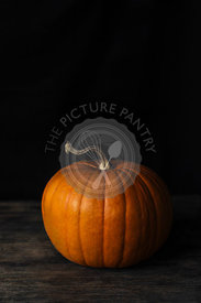 Pumpkin Still Life On A Wooden Rustic Table