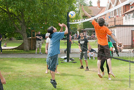 #74609,  Volleyball at the reunion for Summerhill School's 90th birthday celebrations.